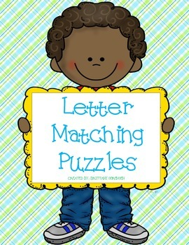 Reading and Letter Naming:  26 Alphabet Puzzles
