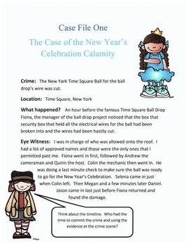 New Year's Reading or Listening Activity Mystery