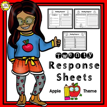Reading and Listening Center Response Sheets (Apple Themed)