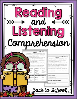 Reading and Listening Comprehension {Back to School}