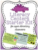 Reading and Literacy Centers for Upper Elementary Starter Kit with Signs