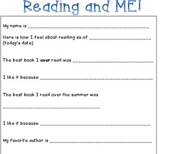 Reading and ME Survey!