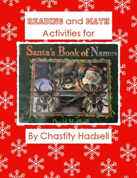 Reading and Math Activities for Santa's Book of Names by David McPhail
