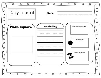 Reading and Math Daily Journal