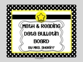 Reading and Math Data Bulletin Board - Black and White with Yellow {Editable}