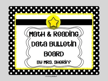 Reading and Math Data Bulletin Board - Black and White wit