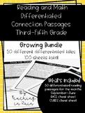 Reading and Math Differentiated Connection Passages- GROWING BUNDLE