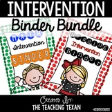 Reading and Math Intervention Binder - No Prep BUNDLE