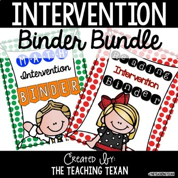 Distance Learning Reading and Math Intervention Binder - No Prep BUNDLE