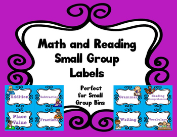 Reading and Math Labels