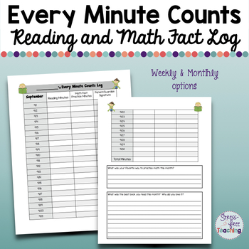 Reading and Math Fact Log