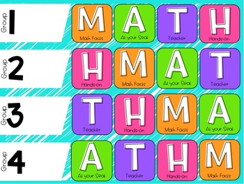 Reading and Math Rotations Board - Digital Version