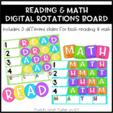 Reading and Math Rotations Board - Digital Version