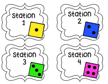 Reading and Math Station Labels