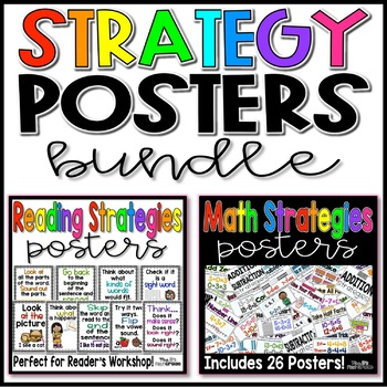 Reading and Math Strategies Posters