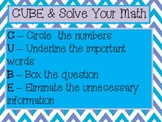 Reading and Math Test Taking Strategy Posters