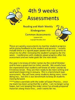 Reading and Math Weekly Assessment Pack 4