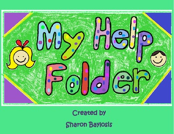 Reading and Math Writing Help Folder for Independent Writing