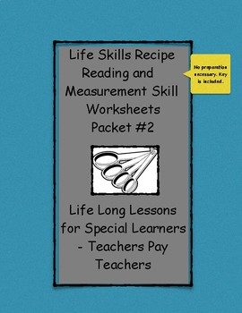 Reading and Measuring a Recipe #2 -  Life Skills for Special Education Students