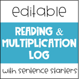 Reading and Multiplication Log Editable