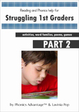 Reading and Phonics Help for Struggling 1st Graders Part 2 CVCC Activities/Poems