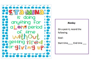 Reading and Reflecting About Reading Stamina!