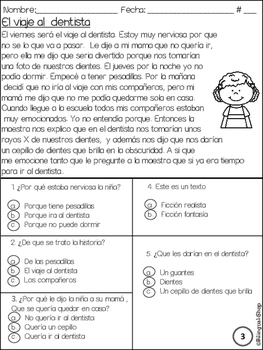 Reading Test Spanish