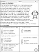 Reading Test Spanish