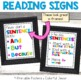 Reading and Sentence Writing Classroom Mini Posters