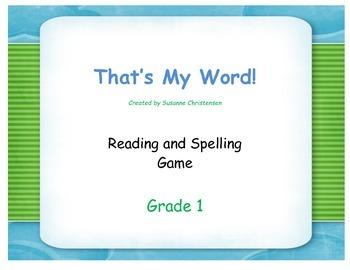 Reading and Spelling Game for First Graders
