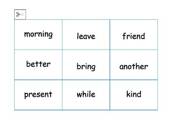 Reading and Spelling Game for Second Graders