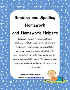 Reading and Spelling Homework and Homework Helper