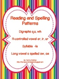 Reading and Spelling Patterns  (er/ir/ur, -le, long o and digraph qu, wh)