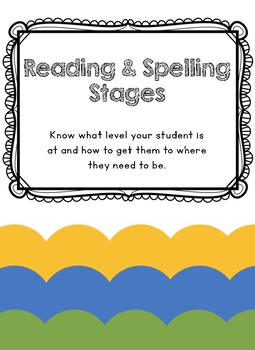 Reading and Spelling Stages and Descriptions