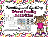 Reading and Spelling Word Family Activities