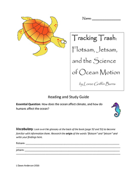 """Reading and Study Guide for """"Tracking Trash"""":Scientist in the Field series"""