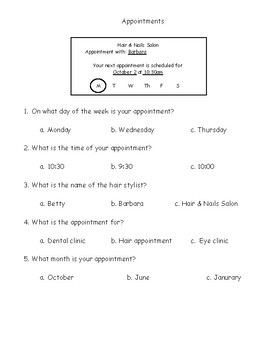 Reading and Understanding Appointment Cards