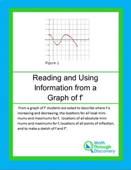 Reading and Using Information from the graph of f '