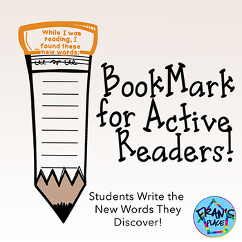 Reading and Vocabulary  Bookmarks~Keep your readers active!