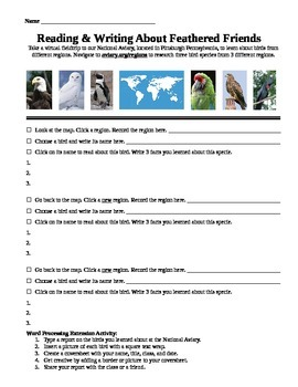 Reading and Writing About Birds