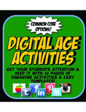 Twitter, Facebook, Instagram Reading and Writing Activities & Graphic Organizers
