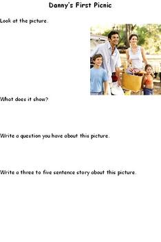 Reading and Writing Activity Worksheet: Danny's First Picnic