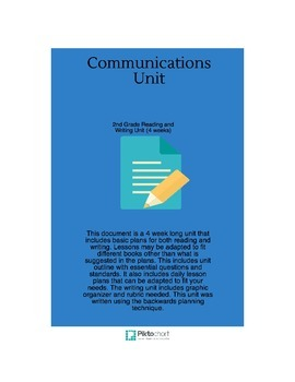 Reading and Writing CCSS Communication Unit