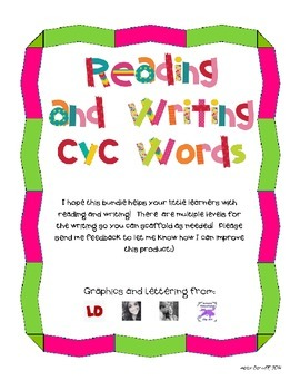 Reading and Writing CVC Words