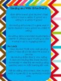 Reading and Writing Choice Sheets