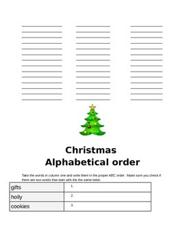 Reading and Writing Christmas activities