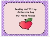Reading and Writing Conference Log