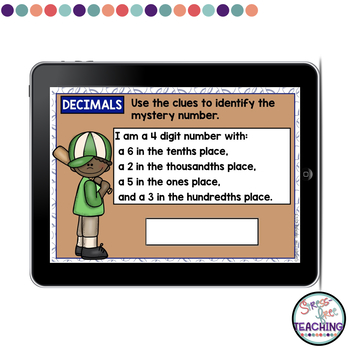 Reading and Writing Decimals - Boom Cards