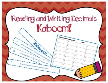 Reading and Writing Decimals Game { Math Center }