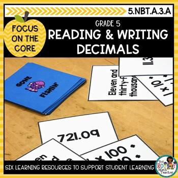 Reading and Writing Decimals: Math Learning Bundle